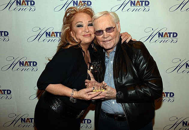 Tanya Tucker and George Jones at the 2012 National Association of Talent Directors Honors