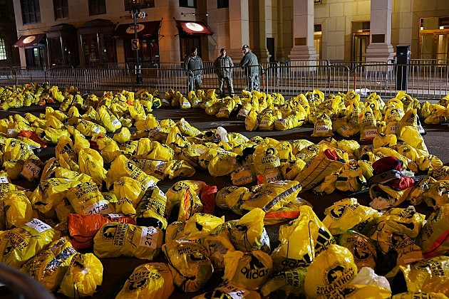 Unclaimed Bags at the Finish Line - Boston Deals With Aftermath Of Marathon Explosions