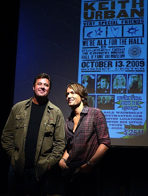 Vince Gill and Keith Urban All For The Hall Press Conference