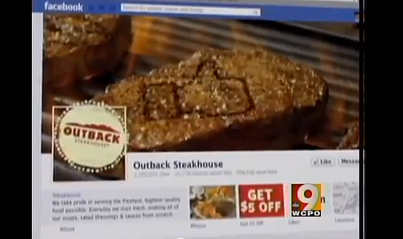 Screen Shot outback steakhouse