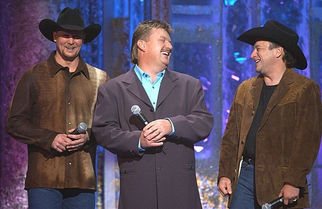 Tracy Lawrence, Joe Diffie, Mark Chesnutt at 2002 Annual Academy of Country Music Awards