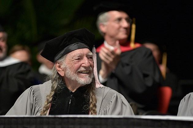 Willie Nelson receives an Honorary Doctor of Music Degree at 2013 Berklee College Of Music Commencement Ceremony at Berklee College of Music on May 11, 2013 in Boston, Massachusetts.