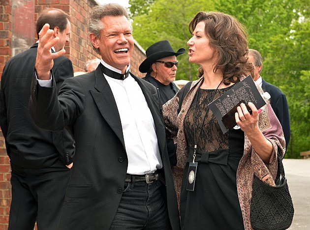 Randy Travis And Amy Grant At George Jones Funeral April 2013