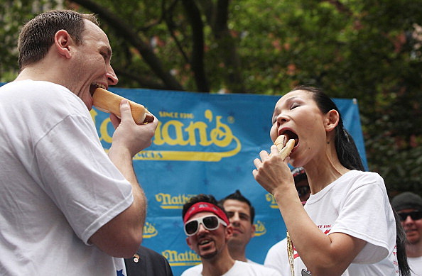 Mayor Bloomberg Attends Weigh In For Tomorrow's Coney Island Hot Dog Eating Contest
