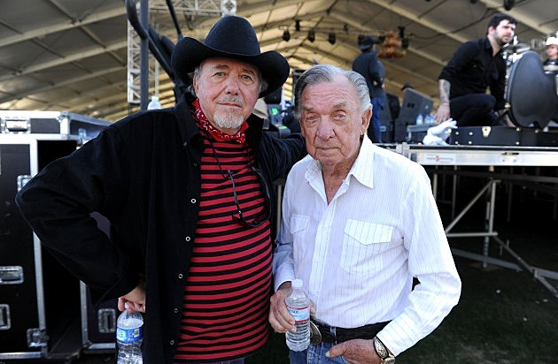 Bobby Bare (L) and Ray Price (R) in 2010