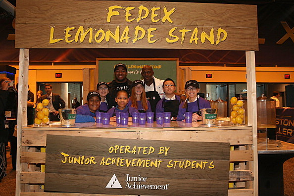 FedEx Opened First-Ever Lemonade Stand For Charity In New Orleans, Enlisted NFL Stars To Help Raise Funding For Junior Achievement Students