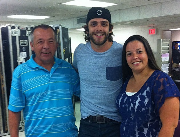 Thomas Rhett with WGNA Winners