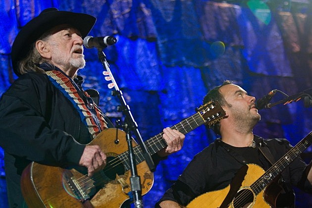 Willie Nelson and Dave Mathews