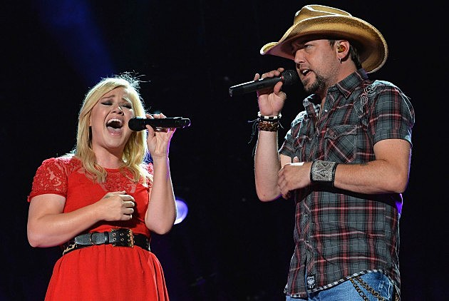 Kelly Clarkson and Jason Aldean