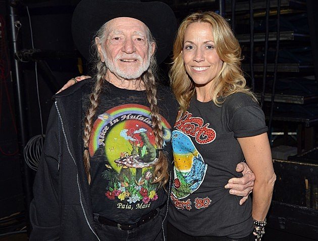 Willie Nelson and Sheryl Crow