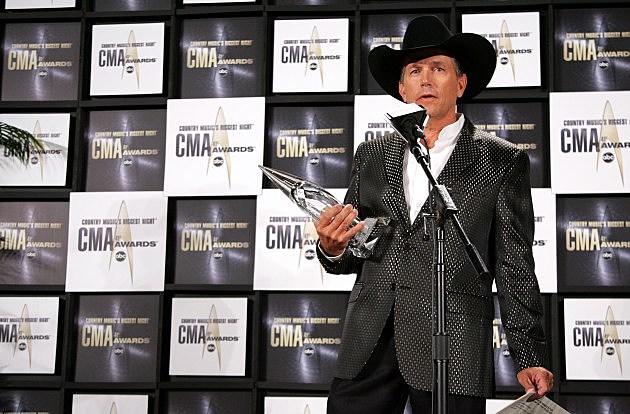 George Strait- 41st Annual CMA Awards - Press Room