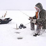Frigid Weather Helps Ice Fishermen