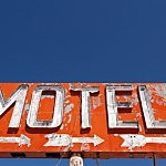 Vintage Old Classic Neon Motel Sign
