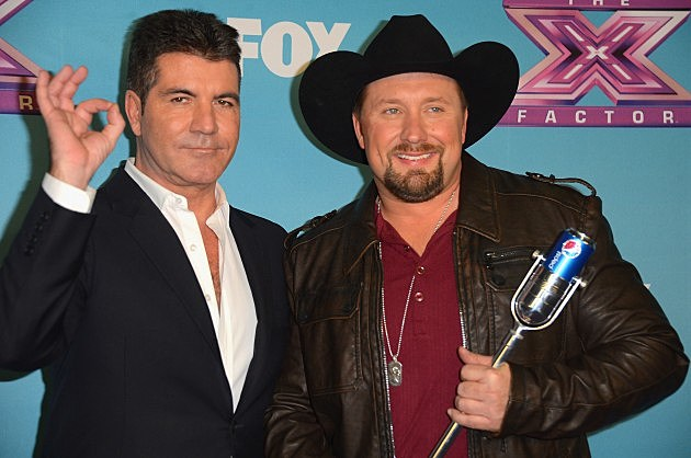 Simon Cowell and Tate Stevens