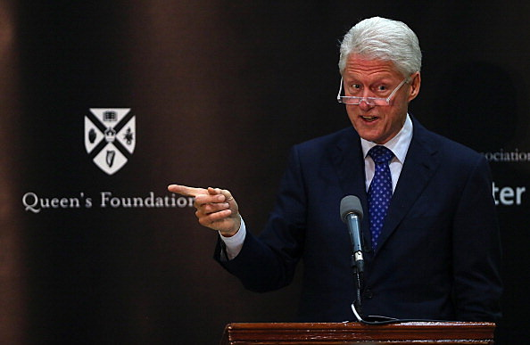 Bill Clinton Visits Belfast