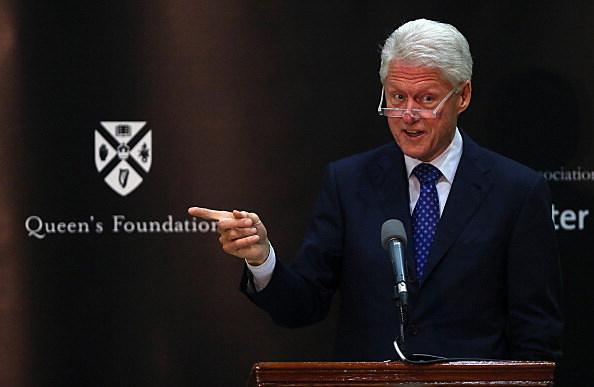 Bill Clinton Visits Belfast