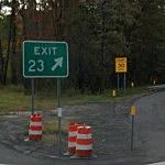 Exit 23 Sign-Thruway