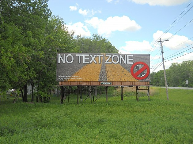 No Text Zone Winning Billboard