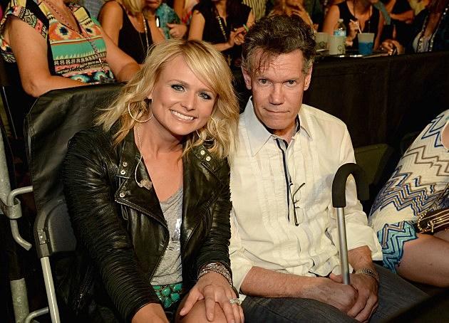 Miranda Lambert and Randy Travis - June 2014 at George Strait Concert