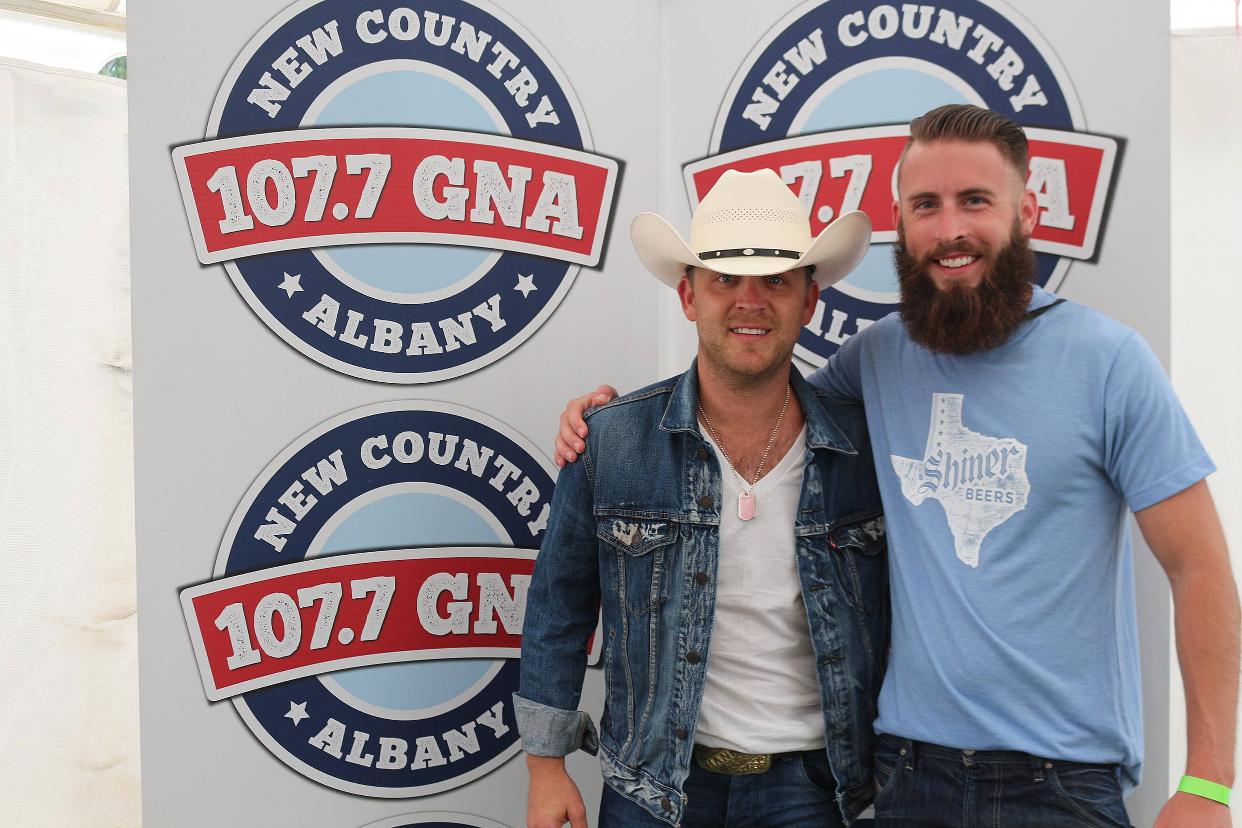 Justin Moore Meets With The Fans Backstage At Countryfest 2017